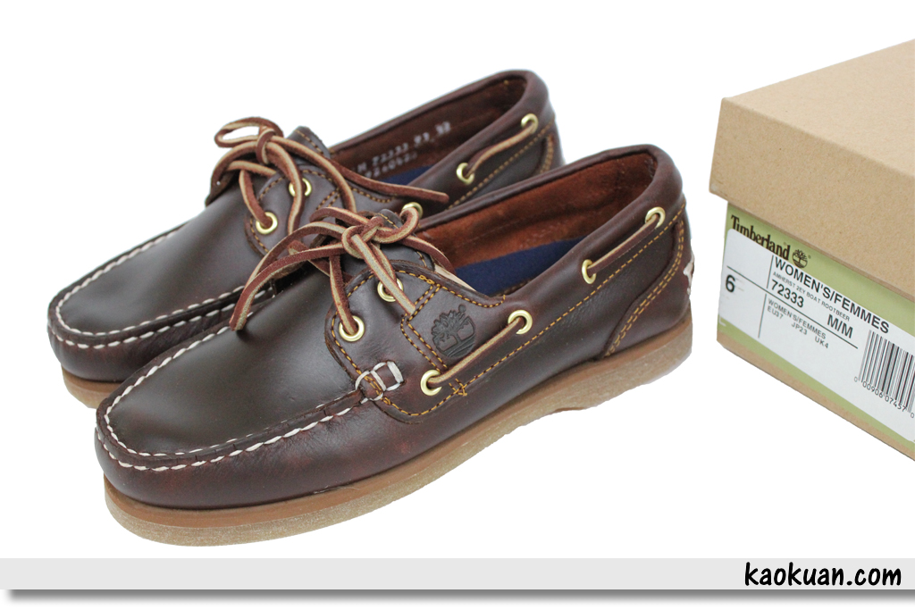 Timberland 經典帆船鞋 72333 2 Eye Boat Rootbeer