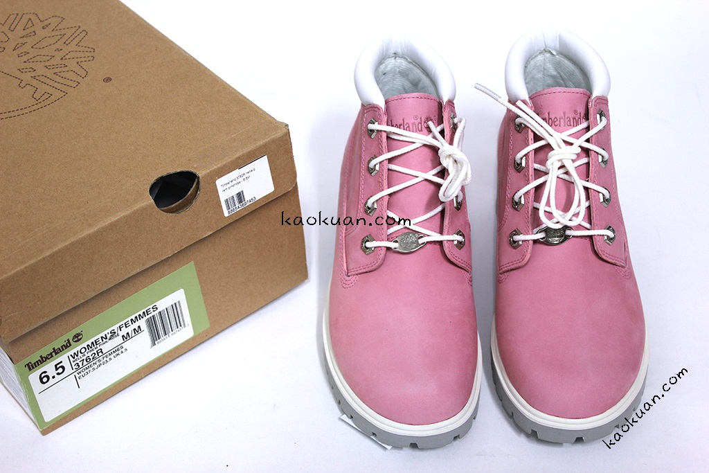 Timberland Waterproof Nubuck Leather Nellie Premium Chukka Boot Pink 3762R