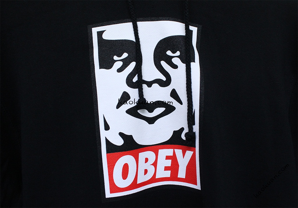Obey icon basic logo face hoodie 帽 Tee