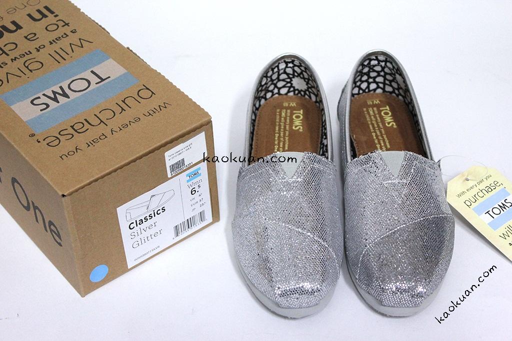 Toms Women's Silve Glitters 小亮片 休閒鞋 001013B07