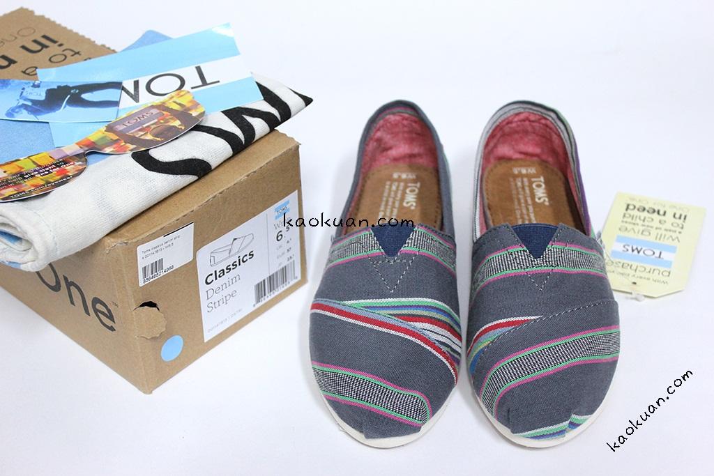 Toms classics denim stripe 001147B13 丹寧 休閒鞋