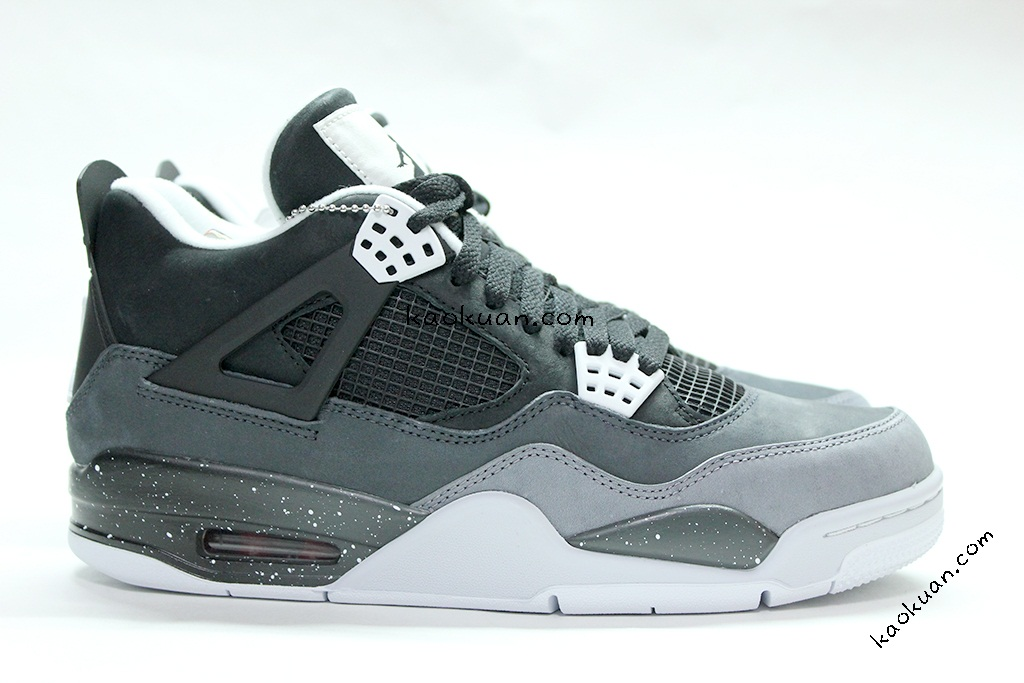 Nike Air Jordan 4 fear pack oreo 四代 恐懼 IV AJ4 黑白 潑墨