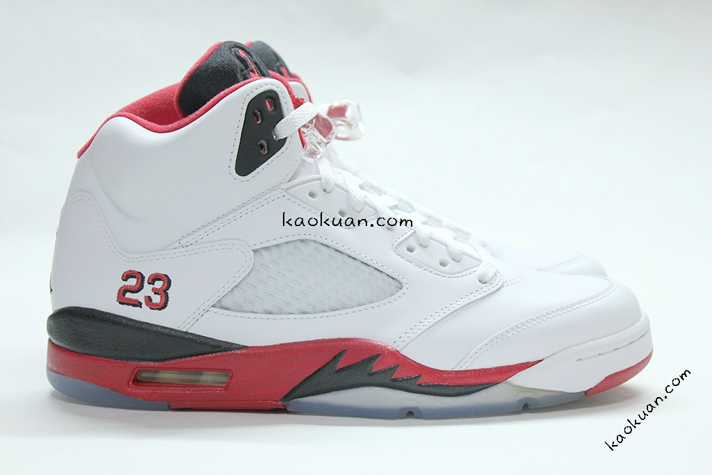 Nike Air Jordan 5 Retro Fire Red Black Tongue 136027-120 白紅 五代 喬丹