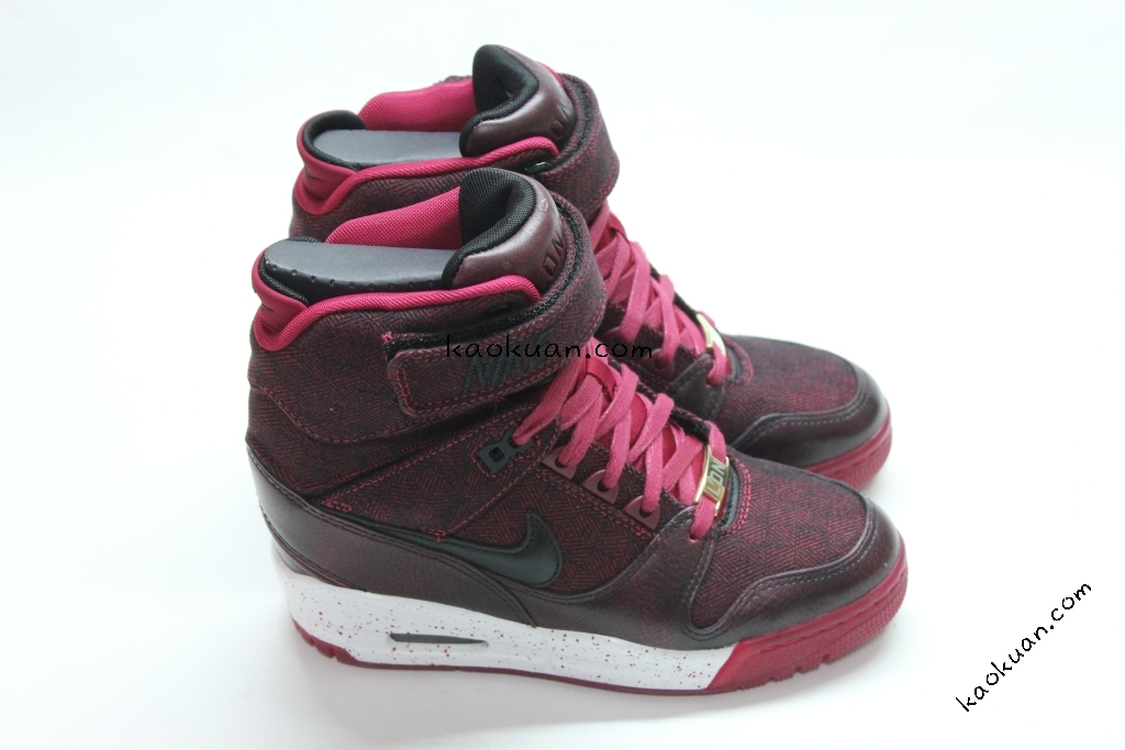 Nike Air Revolution Sky Hi City Pack LONDON 倫敦 城市 內增高 633525-600 女鞋 酒紅