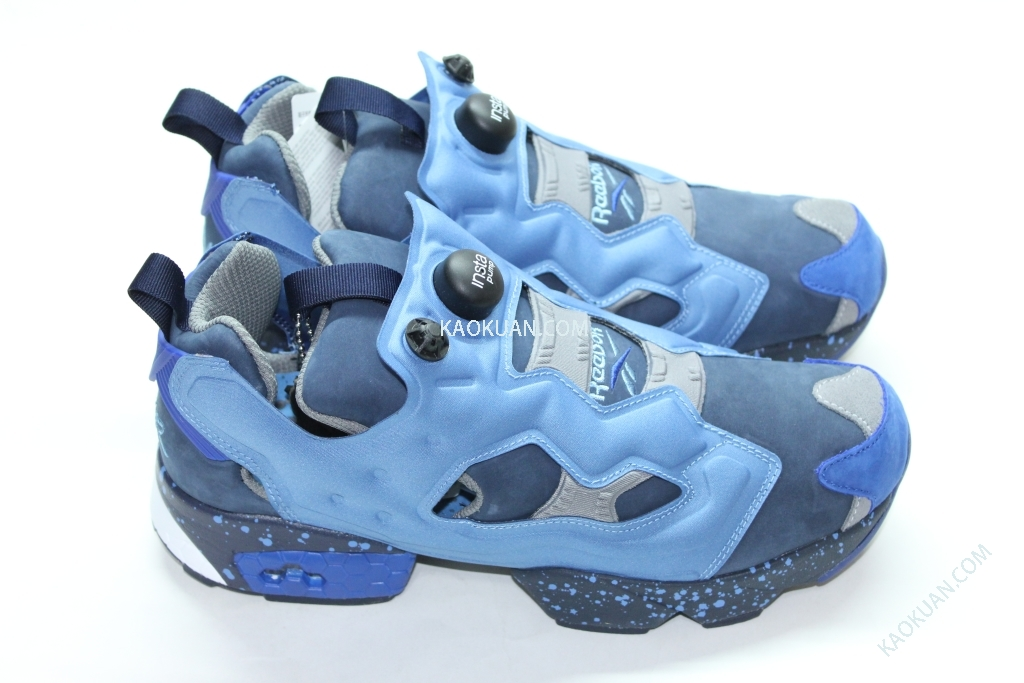 Reebok Packer Shoes Stash Insta Pump Fury OG V61215 聯名 潑漆 充氣 慢跑鞋 寶藍