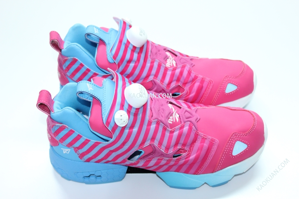 Reebok Stayreal Insta Pump Fury 粉紅藍 條紋 五月天 阿信 V59962 (補貨)