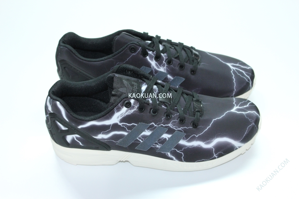 ADIDAS ORIGINALS ZX Flux Black Elements 黑色 閃電 Lightning 日本限定 M21776 余文樂著