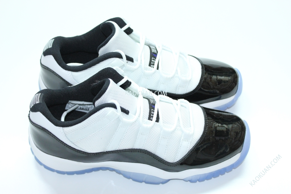 Nike Air Jordan 11 Retro Low BG GS Concord AJ11 女鞋 康扣 白黑 亮皮 低筒 528896-153