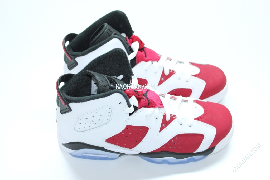 Nike Air Jordan 6 Retro Carmine BG GS AJ6 六代 女鞋 紅白 胭脂紅 384665-160