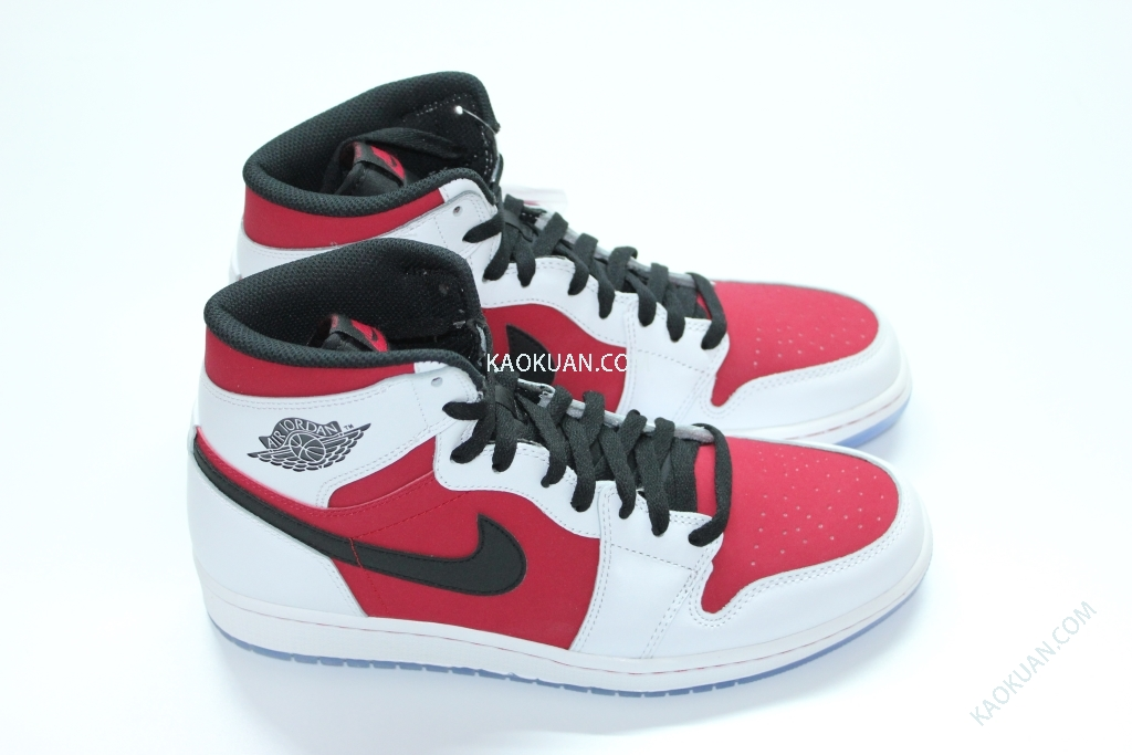 Nike Air Jordan 1 Retro High OG Carmine 白 紅 胭脂紅 男鞋 555088-123