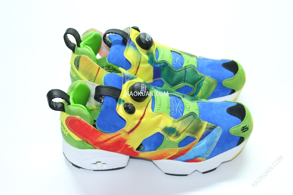 REEBOK INSTAPUMP FURY CROOKED TONGUES PUMP CT 天堂鳥 金剛鸚鵡 彩色 M42001