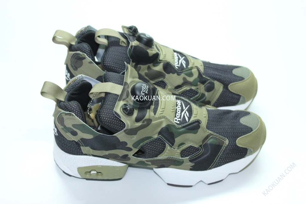 REEBOK INSTAPUMP PUMP FURY OG BAPE AAPE Mita Sneakers APE V61765 三方聯名 綠迷彩
