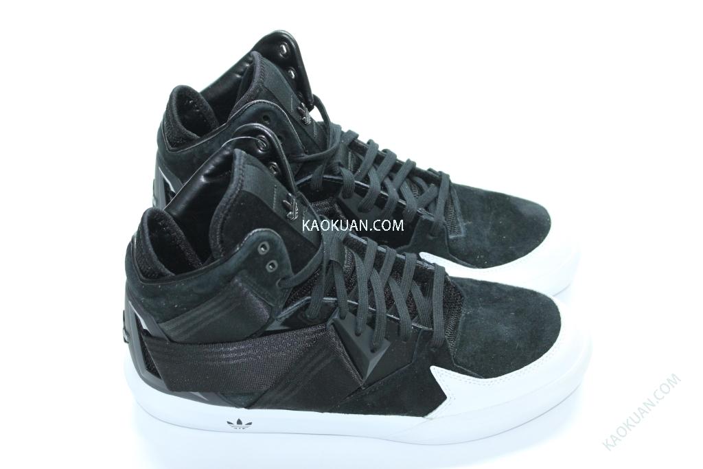 Adidas Originals C-10 休閒鞋 高桶鞋 稜角分明 男鞋 黑 白 C75340