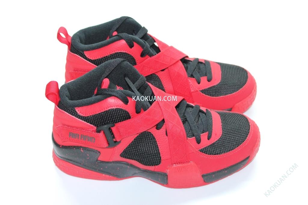 Nike Air Raid GS Retro 黑 紅 魔鬼氈 交叉綁帶 644412-600 女鞋