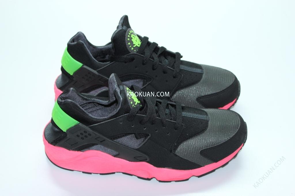 Nike Air Huarache Punch 318429-006 黑 粉 桃紅 YEEZY 慢跑鞋