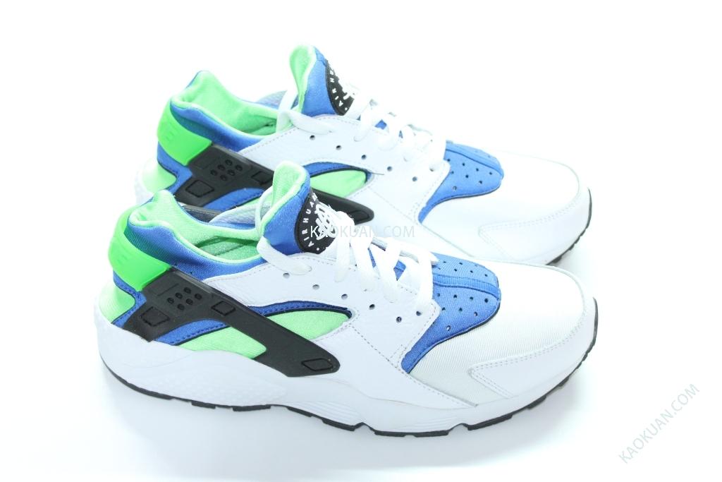 Nike Air Huarache Scream Green 318429-100 白藍綠 復古