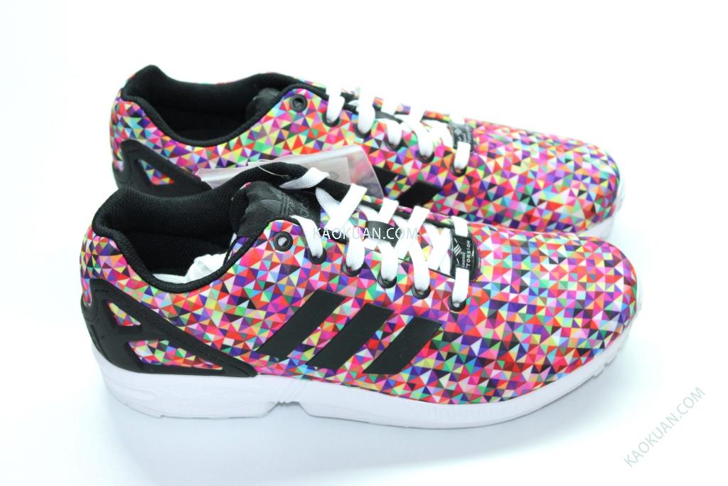 全新正品 Adidas Originals ZX Flux Mult Color M19845 彩虹 馬賽克