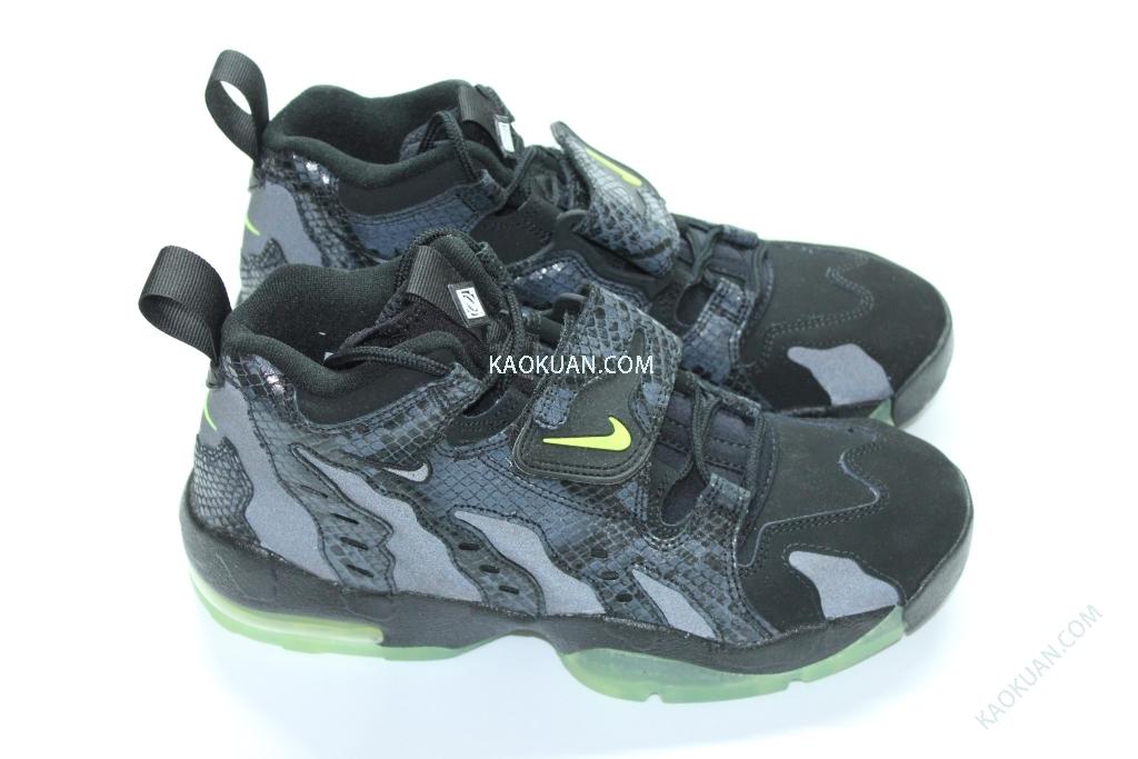 NIKE AIR DT MAX '96 PRM 616781 001 黑蛇紋 夜光底 反光 魔鬼氈 籃球鞋