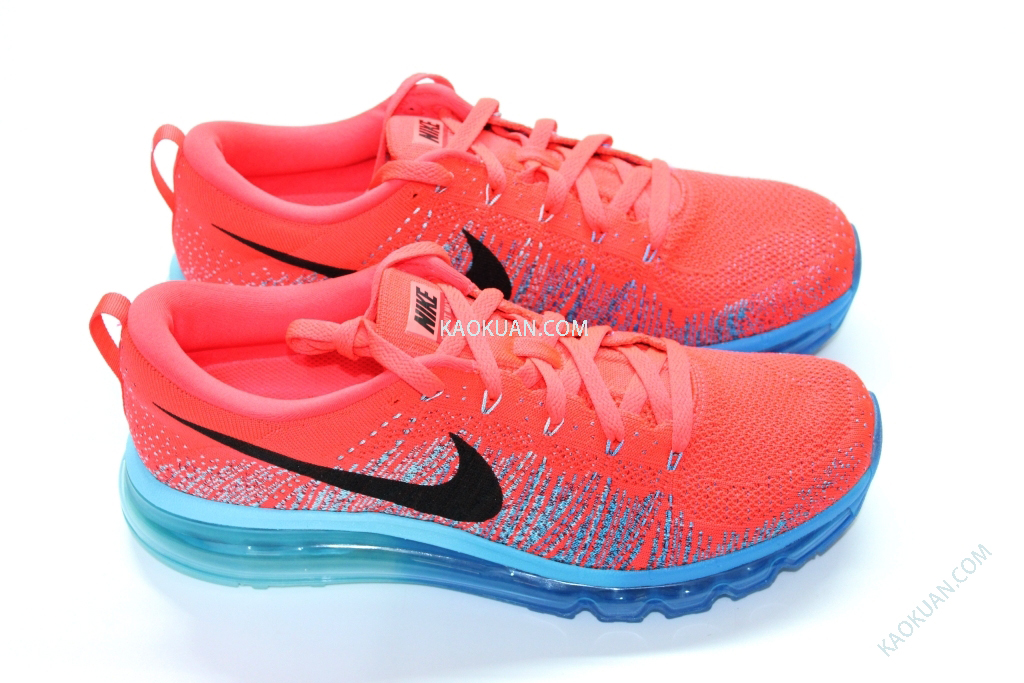 Nike Air Max Flyknit 藍紅 編織 全掌 全氣墊 潮流 慢跑鞋 620469-600