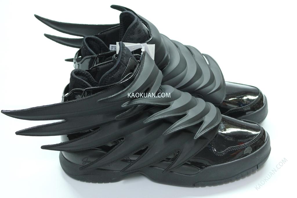 Adidas Jeremy Scott JS WINGS 3.0 翅膀 全黑 男鞋 D66468