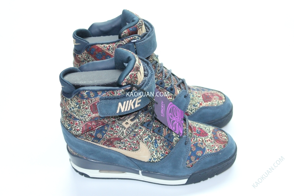 NIKE AIR REVOLUTION SKY HI LIBERTY QS 藍 楔型鞋 內增高 632181-402