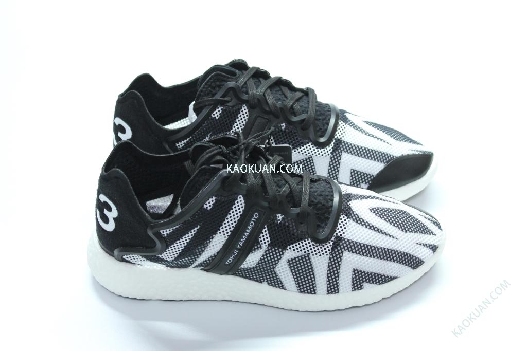 全新 正品 Y-3 YOHJI BOOST 幾何 圖形 斑馬紋 慢跑鞋 休閒鞋 黑 白 M21796