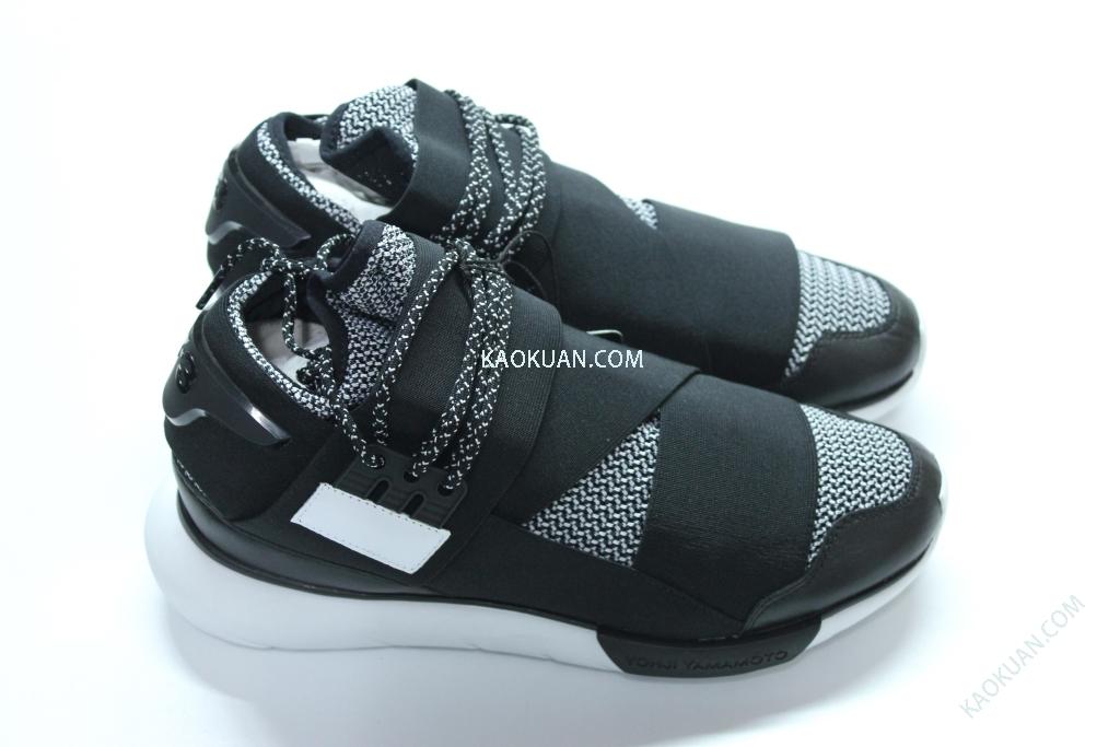 ADIDAS Y-3 QASA HIGH 黑白灰 千鳥格 格紋 繃帶 忍者鞋 B35674