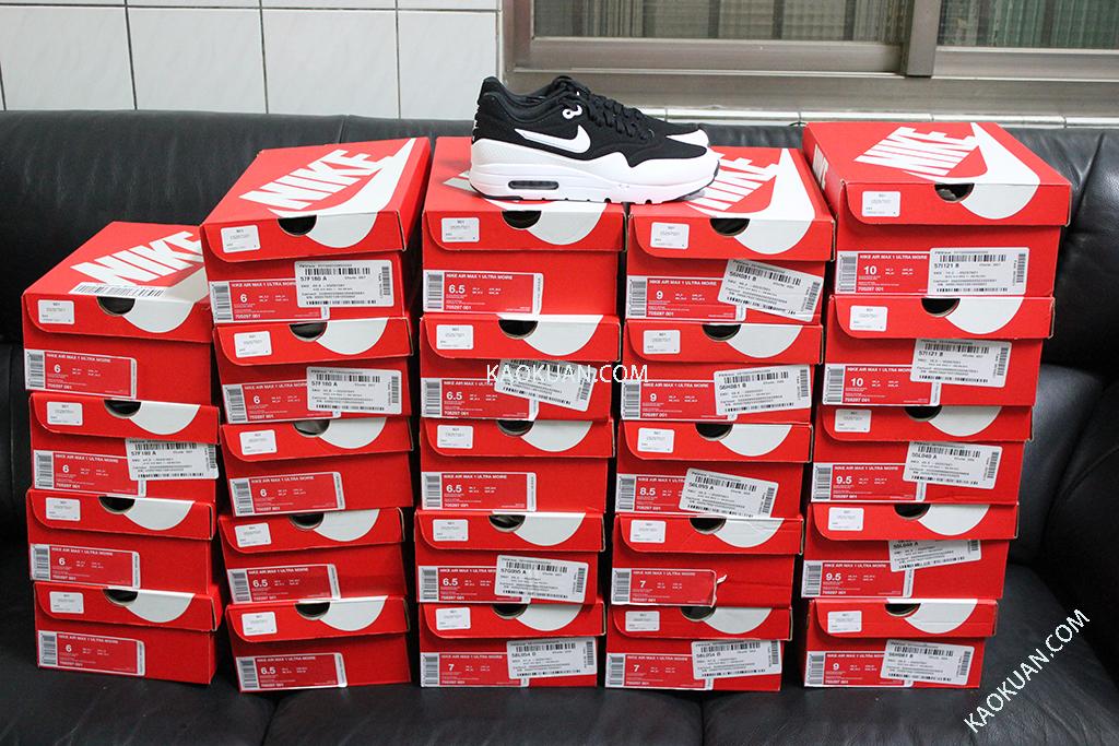 Nike Air Max 1 Ultra Moire 黑白 殺人鯨 慢跑鞋 705297-001