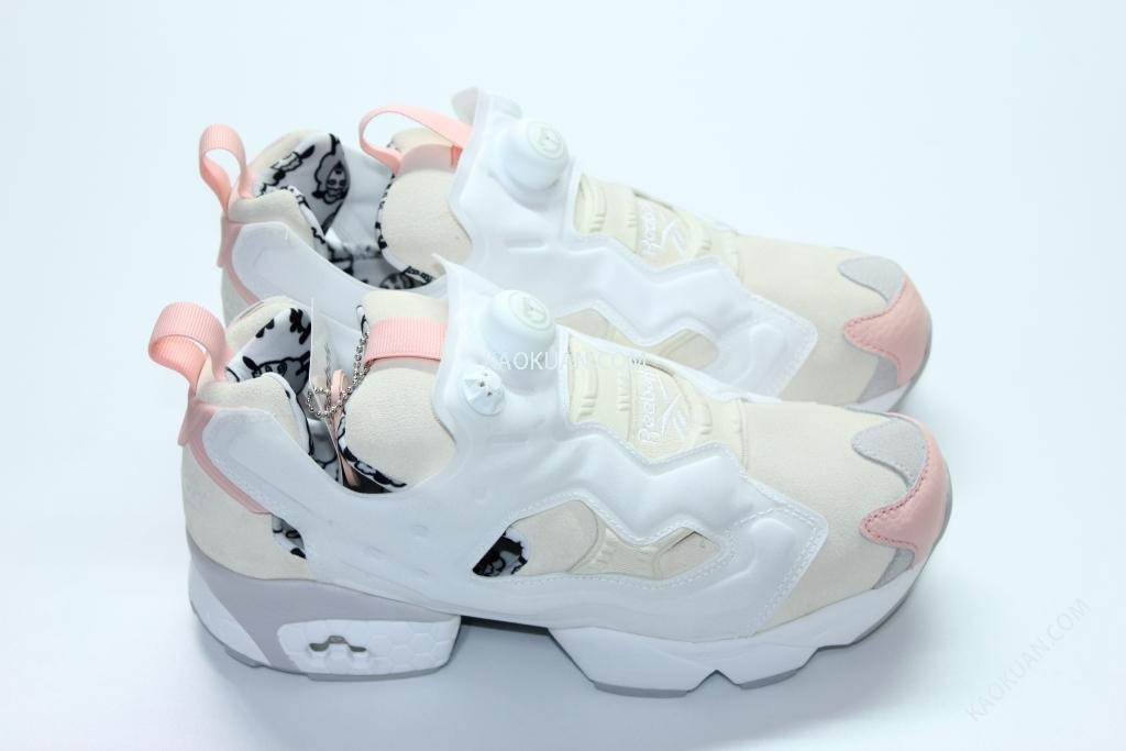 REEBOK INSTA PUMP FURY 白 桃粉 羊年 限定 充氣 慢跑鞋 V62597