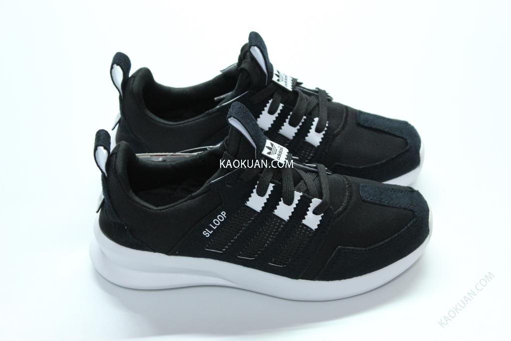 ADIDAS ORIGINALS SL LOOP RUNNER GS C75334 女鞋 麂皮 黑白