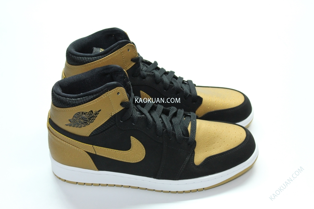 NIKE AIR JORDAN 1 HIGH MELO 332550-026 黑 金 男 籃球鞋