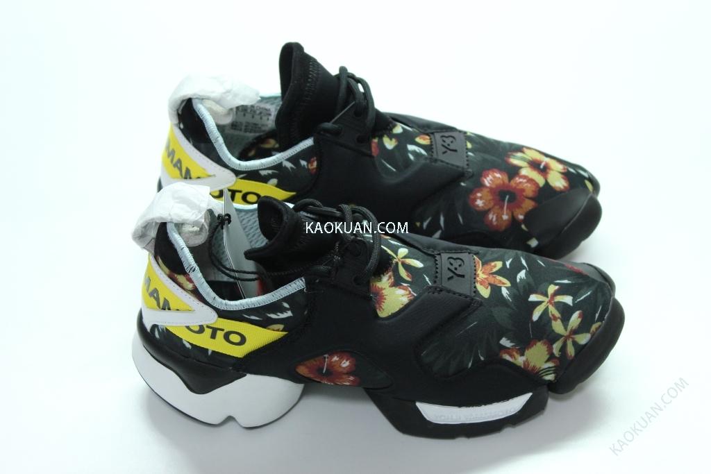 ADIDAS Y-3 KOHNA Yohji Yamamoto B26258 黑 花卉 忍者鞋