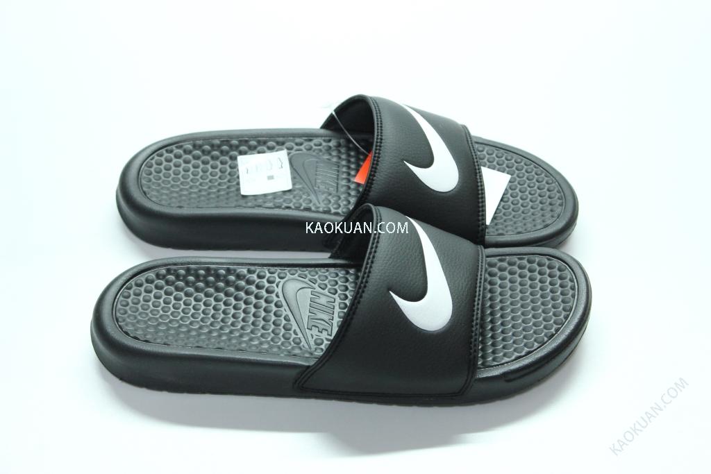 Nike Benassi Swoosh LOGO 拖鞋 黑底 白勾 GD著用 312618-011