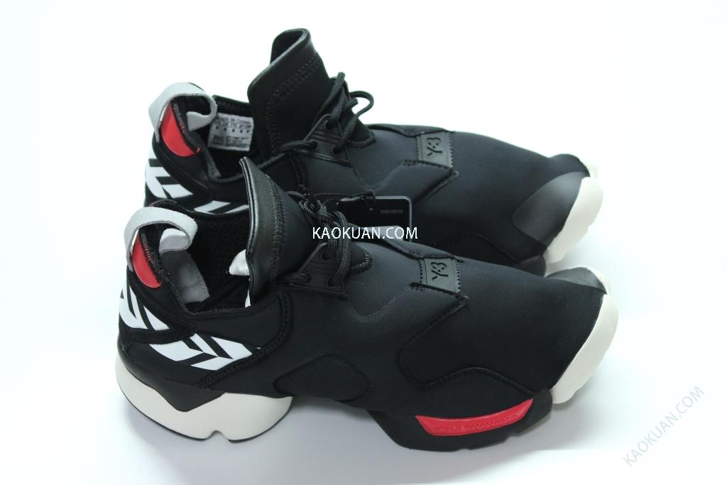 Y-3 KOHNA PRINTED NEOPRENE 黑 白 紅 忍者 幾何 S83153 男女鞋