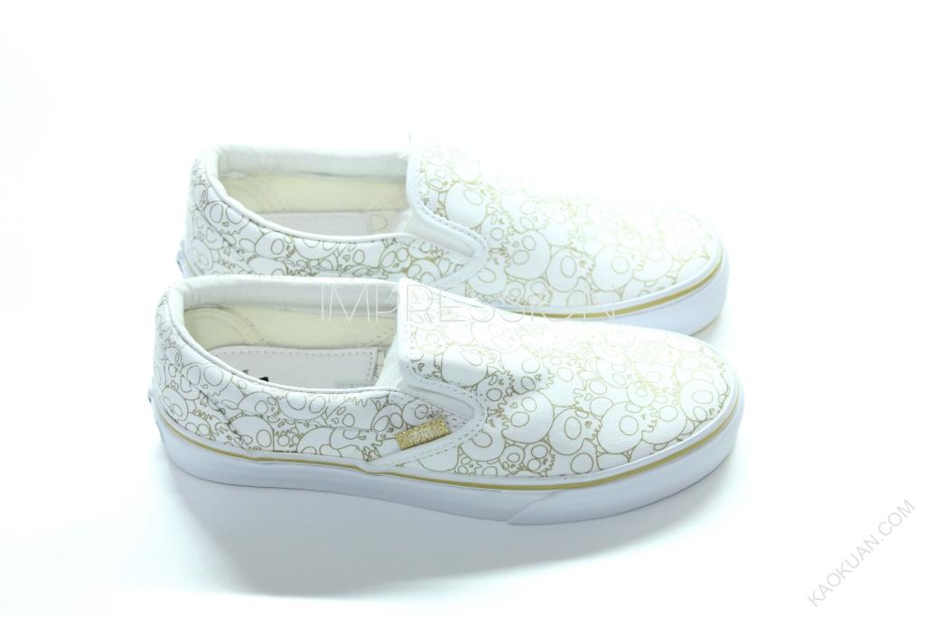 VANS X TAKASHI MURAKAMI SLIP ON LX 白 金 骷顱 村上隆 現貨 女鞋