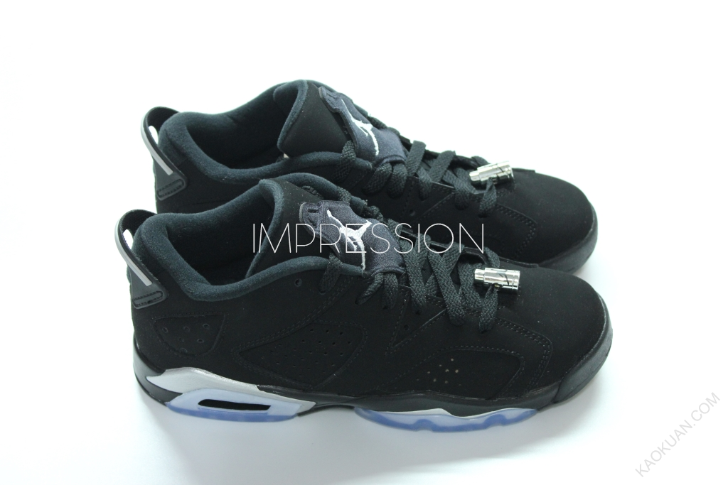 NIKE AIR JORDAN 6 RETRO LOW BG 768881-003 黑銀 女款 喬丹鞋