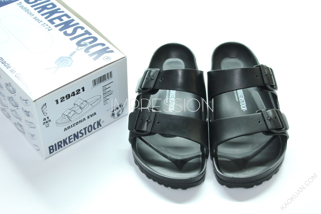 BIRKENSTOCK ARIZONA EVA 129421 防水 橡膠 男生 勃肯 涼鞋 黑色