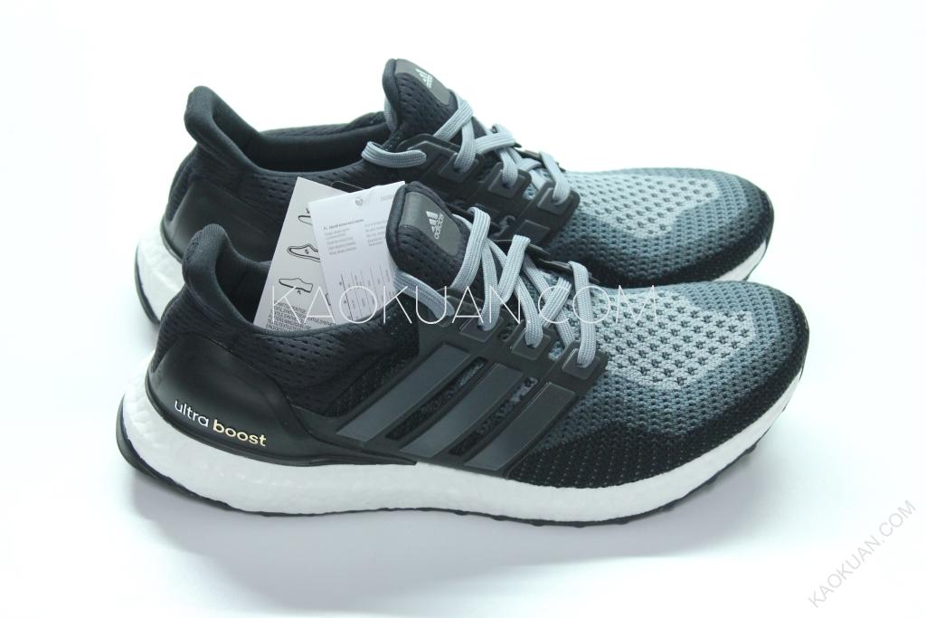 Adidas Ultra Boost Continent 馬牌 輪胎底 編織 緩震 黑灰 跑鞋 AQ4004