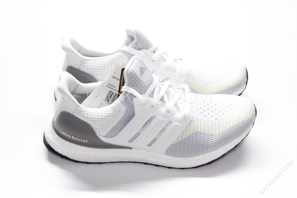 Adidas Ultra Boost Continent 馬牌 輪胎底 編織 緩震 白灰 跑鞋 AQ4007