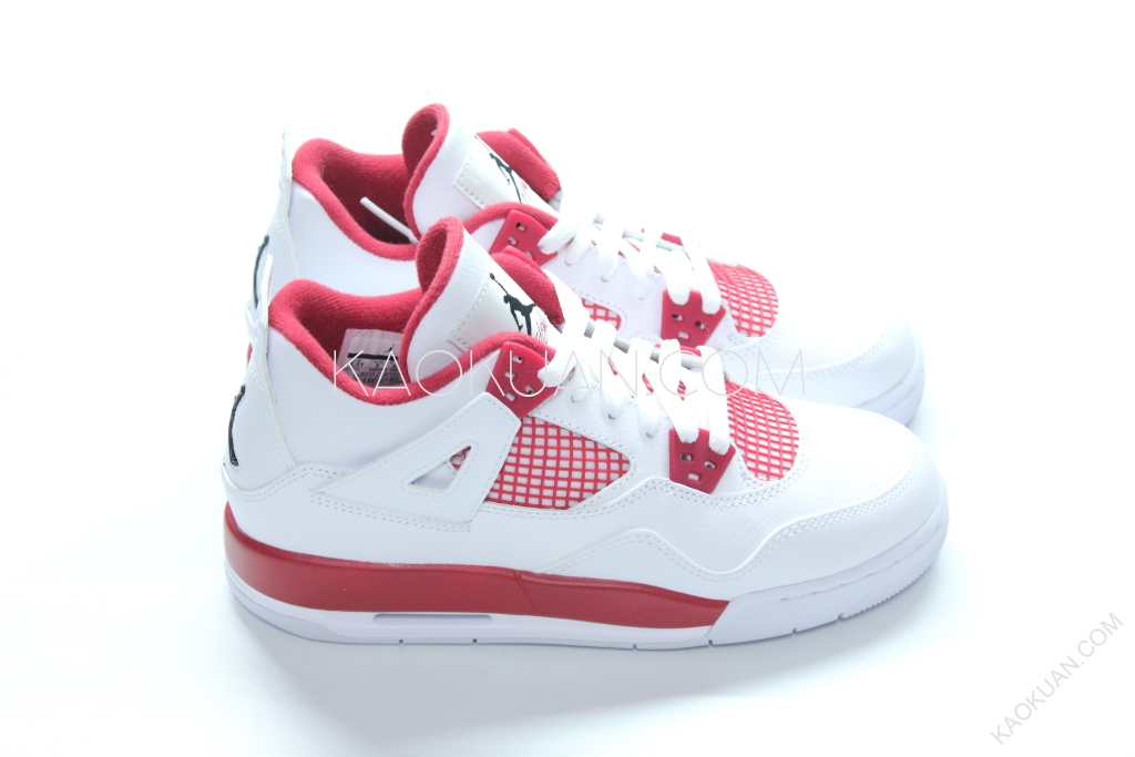 AIR JORDAN 4 RETRO BG ALTERNATE 89 白紅 四代 女鞋 408452-106