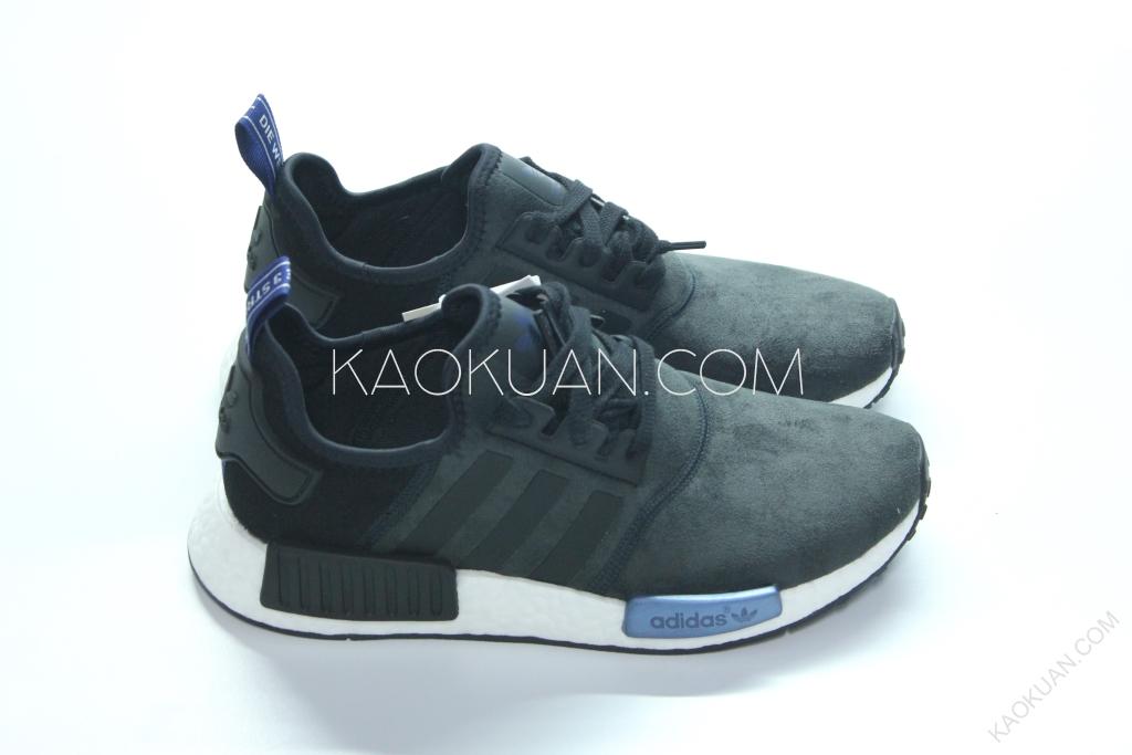 現貨 ADIDAS ORIGINALS NMD Runner W 麂皮 女鞋 黑藍 S75230