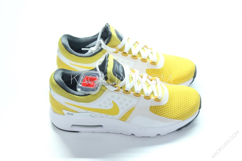 NIKE AIR MAX DAY ZERO QS 氣墊 慢跑鞋 3M 反光 白 黃 789695-100