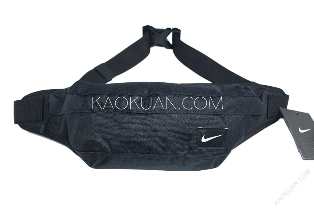 全新 現貨 NIKE HOOD WAISTPACK 腰包 側背 後背 黑 素色 BA4272-067
