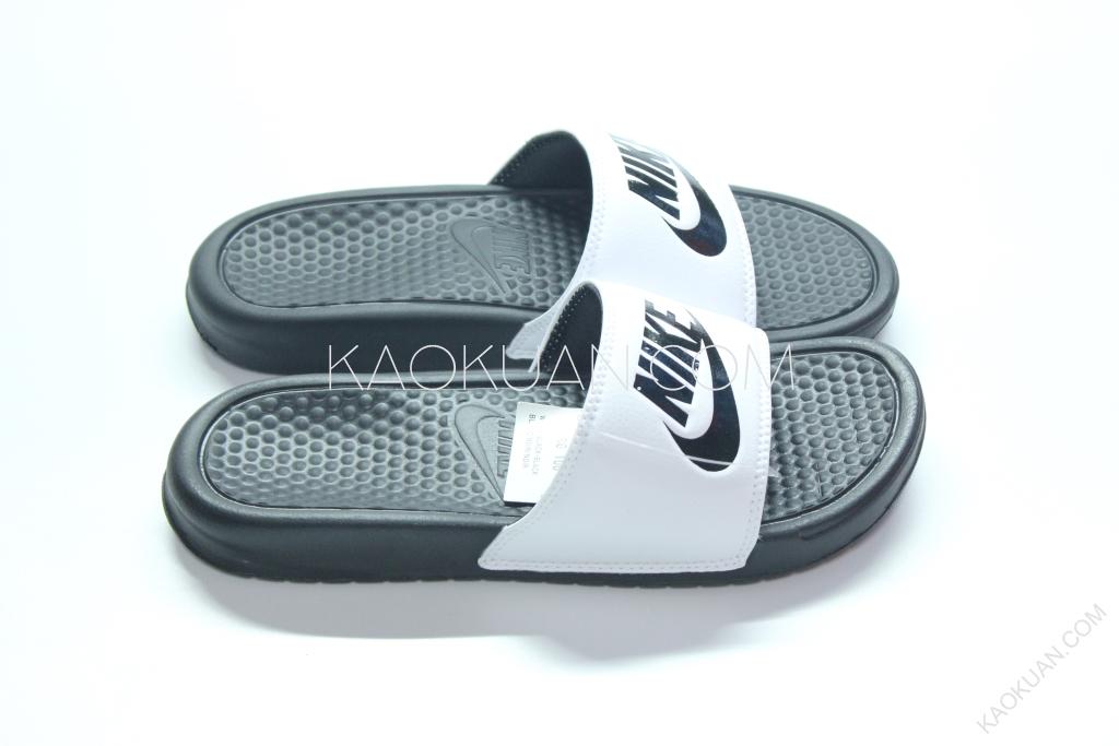 NIKE BENASSI JDI GD 白底 黑字 黑白 運動涼鞋 拖鞋 男女鞋 343880-100