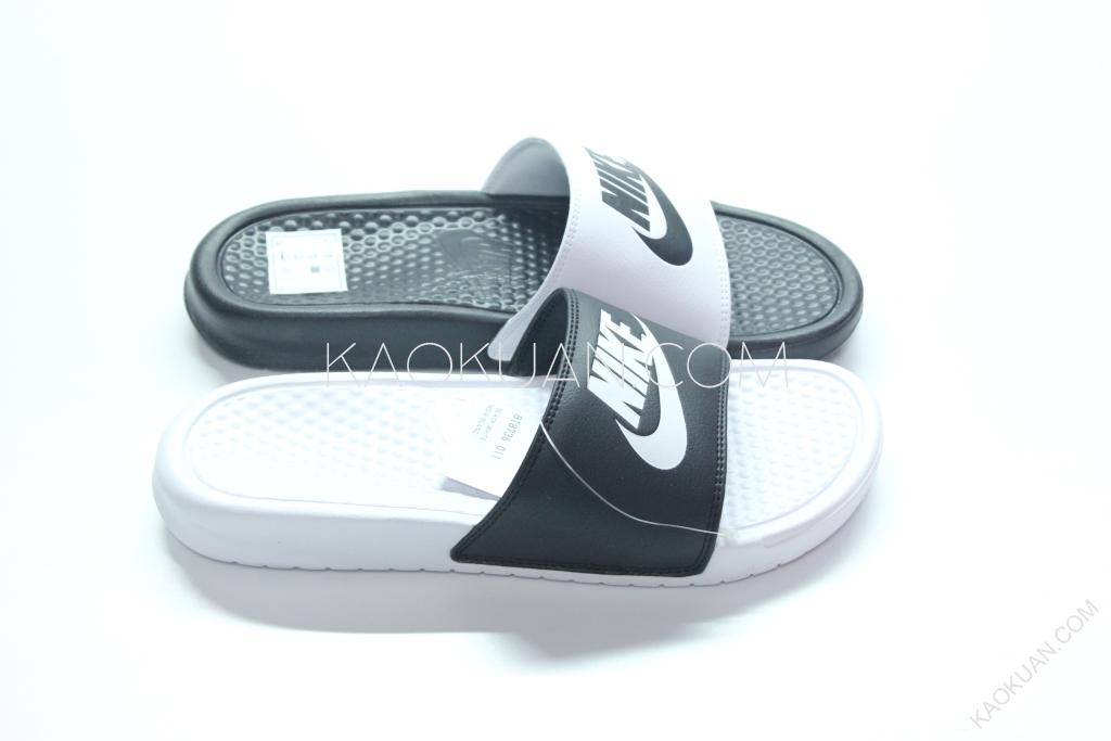 NIKE BENASSI JDI MISMATCH 陰陽 黑 白 涼鞋 拖鞋 男女鞋 818736 011