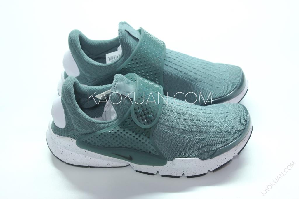 NIKE SOCK DART SE 綠 白 潑墨 透氣 網布 襪套 輕量 慢跑鞋 833124-302