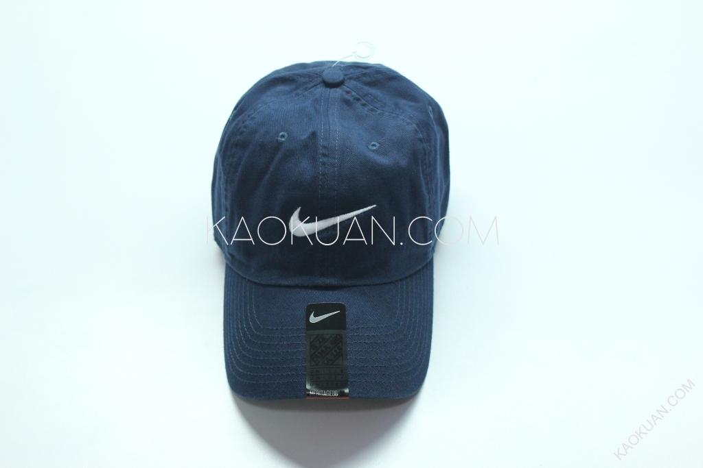 NIKE NSW SWOOSH CAP 電繡 經典 Logo 老帽 彎帽 深藍 546126-454