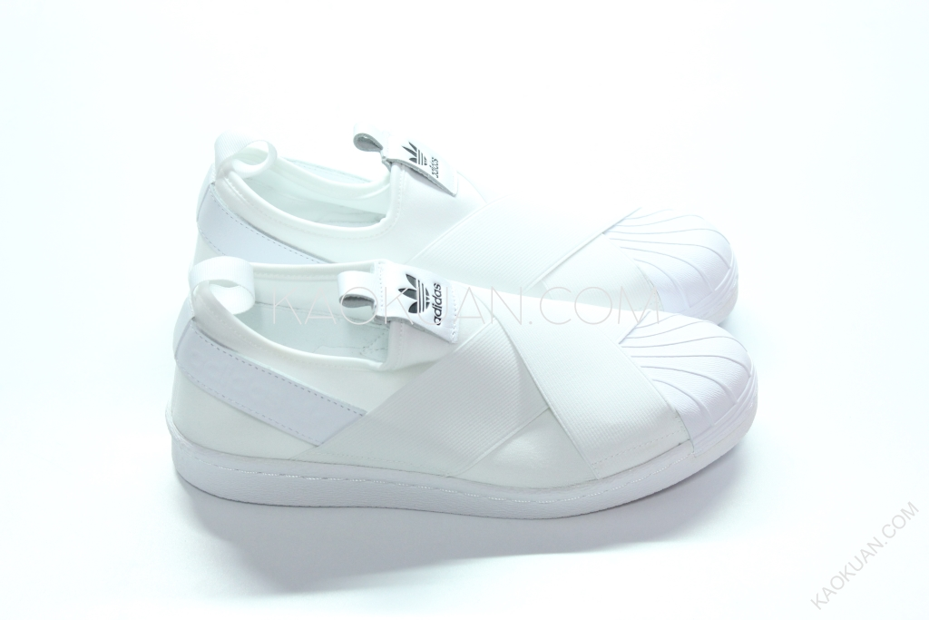 Adidas Originals Superstar Slip On W 白 繃帶鞋 貝殼頭 S81338