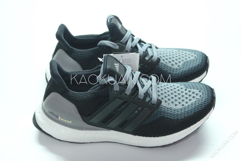 ADIDAS ULTRA BOOST 黑 灰 白 漸層 白底 輕量 慢跑鞋 女鞋 AF5141