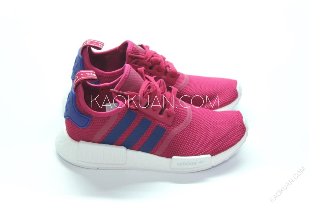 Adidas Originals NMD R1 桃紅 酒紅色 女碼 運動 跑步鞋 S80205